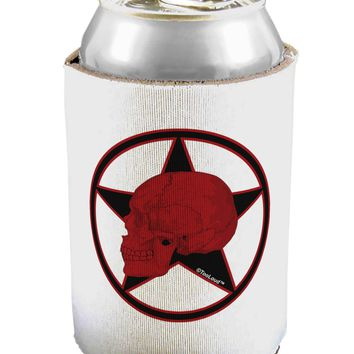 Blood Red Skull Can / Bottle Insulator Coolers by TooLoud