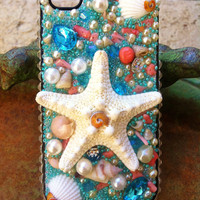 Gorgeous Aqua Seashell iPhone 4/4s case