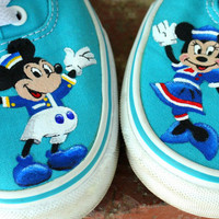 Disney Mickey and Minnie Original Custom Acrylic Painting for Toms/Canvas Shoes