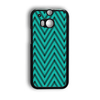 Sketchy Black And Blue Chevron HTC One M8 Case
