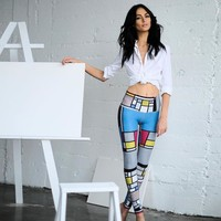 Printed Sports  Workout Gym Fitness Leggings Pants Athletic Clothes