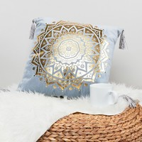 New Look Tile Foil Print Cushion at asos.com