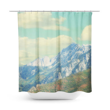 Utah Mountains Shower Curtain