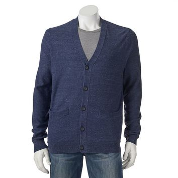 SONOMA life + style Classic-Fit Solid Fine Gauge Textured Cardigan