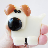 ID Badge Holder, ID Card Holder, Gift for Dog Lovers, Stocking Stuffer, Retractable ID, Dog Accessory, Dog Lover Gift