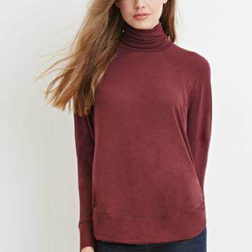 Contemporary Oversized Turtleneck Top