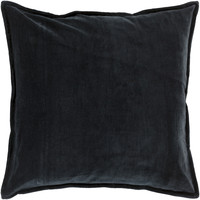 Surya Cotton Velvet Throw Pillow Black