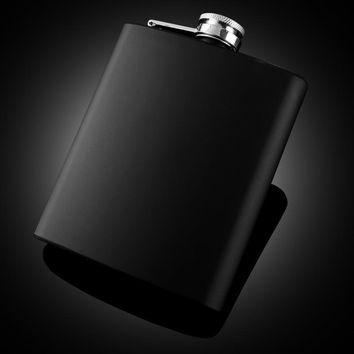 SEXY BLACK STAINLESS STEEL FLASK