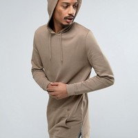 ASOS Oversized Super Longline Hoodie With Side Zips at asos.com