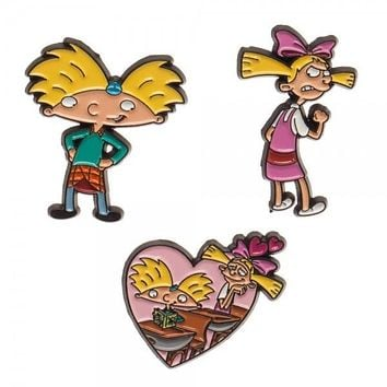 Hey Arnold Lapel Pin 3 Pack