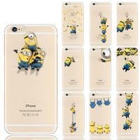 Minion For Coque iPhone 7 7 Plus 4 4S 5 5S 5C SE 6 6S Silicon Case for Samsung Galaxy Grand Prime S5 S6 S7 Edge J1 J5 A3 A5 2016