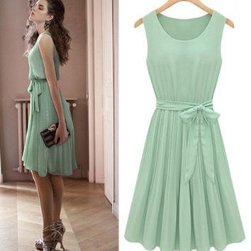 Dress in Light Green