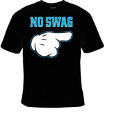 cartoon hand no swag t-shirt cool funny t-shirts cute gift present humor tee shirts
