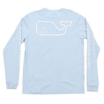 Vintage Whale Country Club Prep Long Sleeve Tee in Jake Blue by Vineyard Vines
