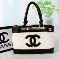 CHANEL ZIPPER  Women Shopping Leather  Crossbody Satchel Shoulder Bag  Handbag