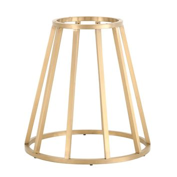 "Annex 54"" Round Dining Table Base Brushed Gold Stainless Steel"