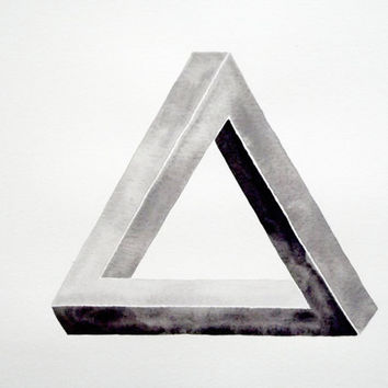 Impossible Triangle - Original Watercolor