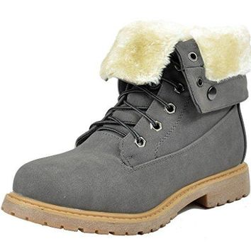 DREAM PAIRS Womens Winter Faux Fur Lined Collar Rubber Outsole Snow Ankle Boots Booties  UGG boots