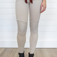 Milo Moto Jeggings - Natural
