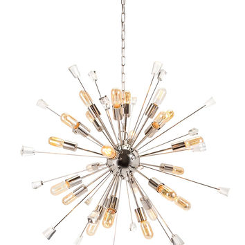 Contemporary Silver Sputnik Chandelier