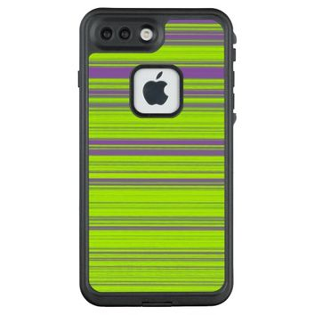 Purple and Green Stripes LifeProof FRĒ iPhone 7 Plus Case