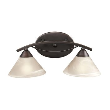 17641/2 Elysburg 2 Light Vanity In Oil Rubbed Bronze And White Glass - Free Shipping!