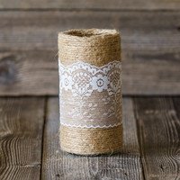 Country Lace Vase