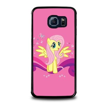 my little pony fluttershy samsung galaxy s6 edge case cover  number 1