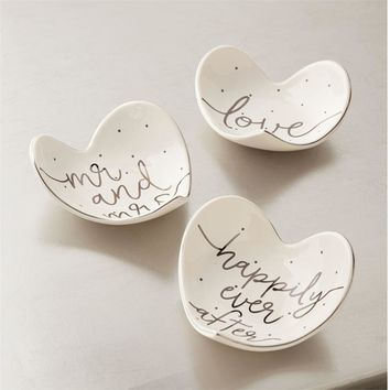 Silver Foil Heart Tidbit Dishes 3 styles by Mud Pie