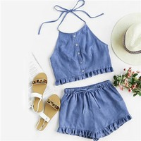 Two Piece Set Blue
