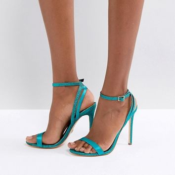 River Island Glitter Barely There Heeled Sandals at asos.com