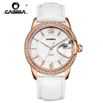 CASIMA Luxury Brand Women Watches Montre Femme Fashion Leather Ladies Quartz Watch Women Waterproof Clock Relojes Mujer 2631
