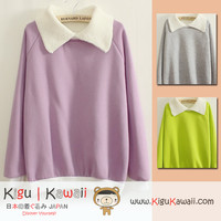 New Trending Knitted Collar Korean Style Thick Sweater 3 Colors KK341