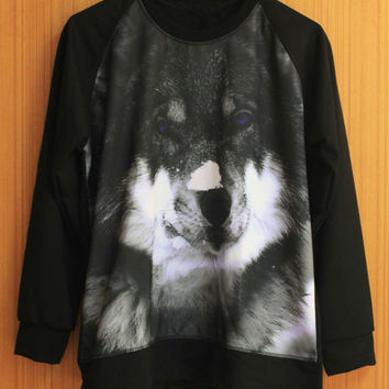 Siberian Husky Shirt Snow Dog Shirt Sweatshirt Sweater T Shirt Women Unisex - Size S M L