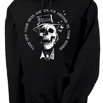 Tom Waits Dance Around in Your Bones Hooded Sweatshirt