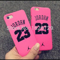 Famous Basketball Champion No 23 Jordan Case for iPhone 5 5s 6 6 Plus Soft Silicon Chicago Bulls back Cover free shipping