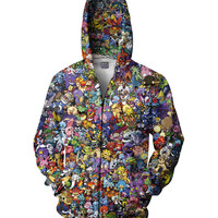 Pokemon Collage Zip-Up Hoodie