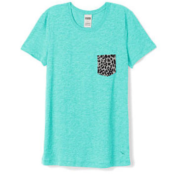 Crewneck Pocket Tee - PINK - Victoria's Secret