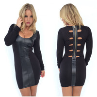 Berezi Leather Mini Dress By SKY