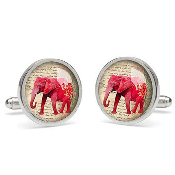 Elephant  cufflink,photo cufflinks,presents for dad ,father of the bride cufflinks,daddy cufflinks,wedding jewellery