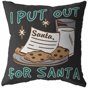 Funny Milk And Cookies Christmas Pillows I Put Out For Santa
