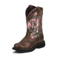 Justin Ladies Gypsy Steel Pink Camo Work Boot