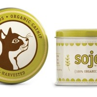 Sojos Cat Treats Certified 100% Organic Catnip USA Made 1 oz Tin