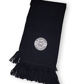 The Beatles Scarf Sgt Pepper Silver Logo, Black Acrylic Knit