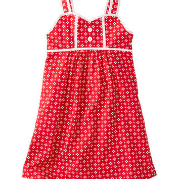 Apple Red Geo Smooth Sailing Sundress