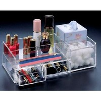 Source One LLC Premium Slim-Line Mini Makeup Organizer 2 Drawers (Slim2Drawer)