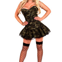 Sexy Army Girl Costume - 3pc Women's Costumes