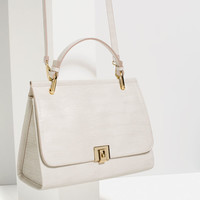 CITY BAG WITH FASTENING DETAIL
