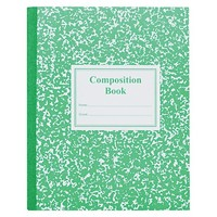 Roaring Spring® Grade School Ruled Composition Book, 9-3/4 x 7-3/4, Green Cover, 50 Pages