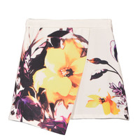 Floral Skirt With Irregular Hem - Choies.com